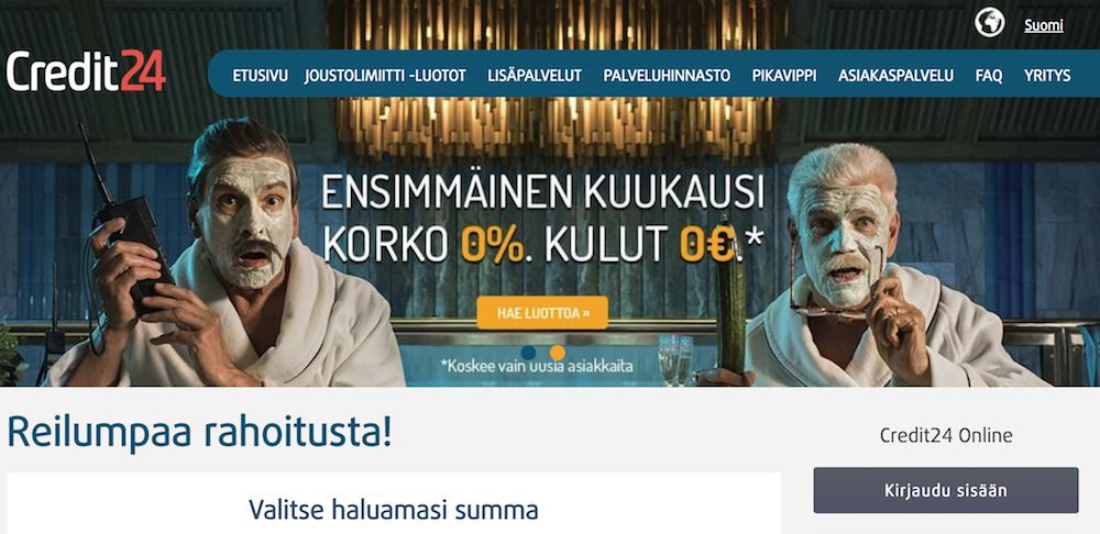 Credit24 Pikalaina