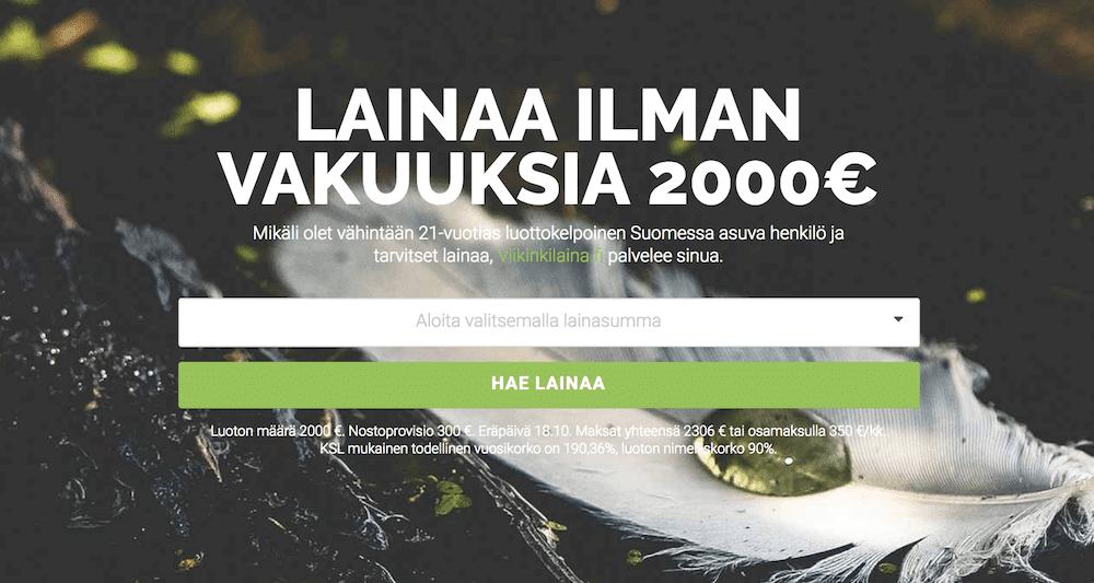 pikavippi 18v - Viikinkilaina